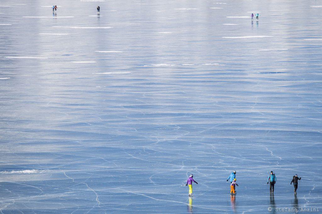in equilibrio sul Lago Bianco